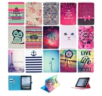 For ipad mini 4 leather case sleep wake New Present Leather Flip Cover Case Stand Shell Housing For iPad mini 4 3 2 4 Air