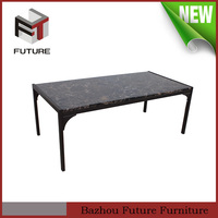 marble top table metal frame rectangle coffee table