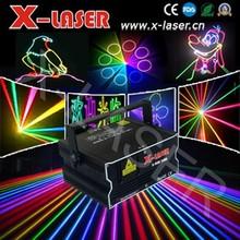 cheap 2W rgb full color animation laser light 2000mW-15W LIDA DMX512 laser projector
