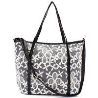 Women Handbag Messenger Dual Use PU Lace Flower Satchel Lady Hollow Shoulder Bag Crossbody Leather Shopper Tote Girls Bookbag