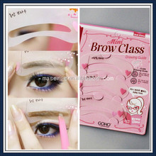 Popular pattern simple eyebrow shaping tools, brow drawing guide eyebrow trimmer, made in China cheap eyebrow stencils