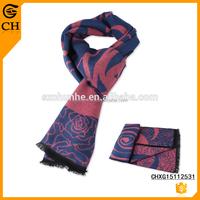 Hot sell Newest design Big Flower fake cashmere scarf