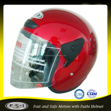 Claret Red Open Face Motorcycle Helmet 801