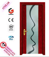 GLASS INSERT SOLID WOODEN DOOR WITH HIGH QUALITY