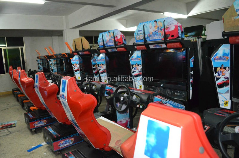 outrun simples 32 lcd amusement arcade simulateur vid o jeu d 39 entra nement de voiture. Black Bedroom Furniture Sets. Home Design Ideas