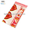 Disposable plastic fancy wedding table cloth,Valentine's table cover