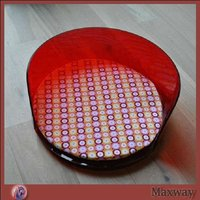 Red modern acrylic pet products with comfortable cushion