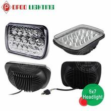 Best quality 5x7 45w car jeep wrangler headlight