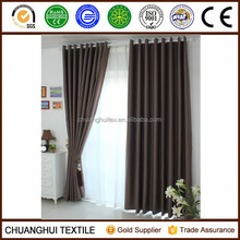 2014 New Arrrival Thermal Insulated polyester blackout curtain for meeting room non-toxic Grommet curtains