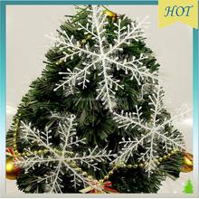 Artificial orange Christmas Decoration, Christmas tree snow flake