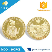 Custom high quality old gold metal coin