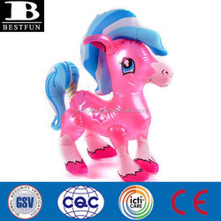 custom made my little pony pvc inflatable pony colt baby toys plastic horse small blow up animal toys from China