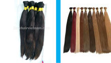 100% virgin human hair without processing and dying,soft and silky straight hair natural Vietnamese hair extension