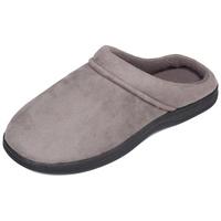 LUXEHOME Men's Slip On Indoor/Outdoor Fleece Scuffs Slipper
