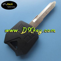 Cheap price blank key blank for kawasaki key motorcycle key blank in black (Could be put into TPX chip)