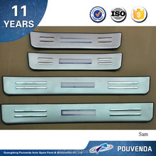 High Quality Stainless Steel Door Sill Plate with LED for 2013+ Sorento door sill protector/guard with LED