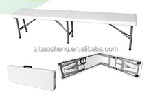 2015 hotsale picnic camping 6ft plastic HDPE folding half bench