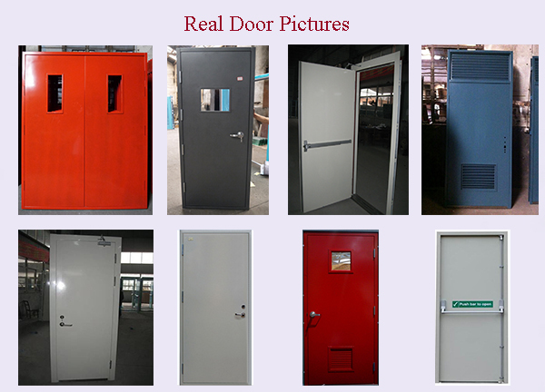 E Top Door Double Fire Exit Door 3 Hour Fire Rated Door With Glass