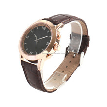 Leather watch strap intelligent quartz smart watch for android 4.0 mobile phone