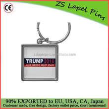 Free artwork design quality custom TRUMP 2016 'Make America Great Again' Silver-colored Square Keychain