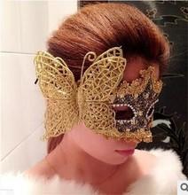 Luxury Venetian realistic halloween mask latex half face Woman Sexy Party Eye Mask