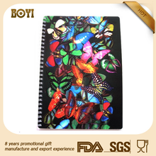 butterfly design cover notebook,3d notebook cover,creative notebook design