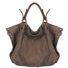 Womens Canvas Travel Tote Hobo Crossbody Messenger Shoulder Bag Carry On Handbag