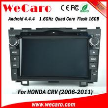 "Wecaro android 4.4.4 car dvd Dashboard Placement 8"" for honda crv dvd gps USB SD TV tuner 2006 - 2011"