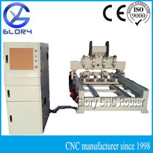 Rotary CNC Router 4 Spindles with NC Studio Controller, Stepper Motors, T Slots Movable Table