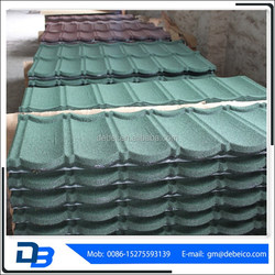 China villa building material Metal colorful stone coated steel roofing sheet/roof tile