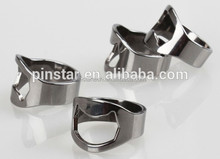 Factory Wholesale Top Quality Stainless Steel Shiny Silver Finger Ring Wine Bottle Opener