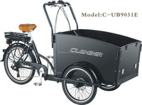 electric tricycle cargo / cargo tricycle for kids/family bike