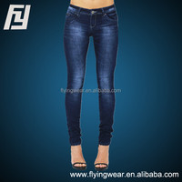 Womens Ladies Blue Slim Fit Stretchy Skinny Denim Jeans