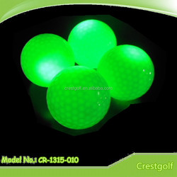 Hardness 80-90% green flashing Custom LED golf ball