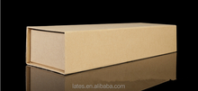 Brown kraft paper box,book shape box with compartments