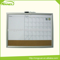 Hot brand good quality custom combination decorative calendar white boards schedule magnetic board chart