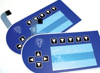 Membrane keyboards with digital printing