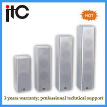 Built in amplifier 40W professional wooden pa system column speaker box