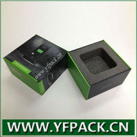 custom design UV coating electronic product mobile phone base packaging box with inlay