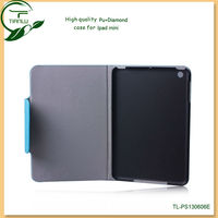 Factory supply ,custom pu leather case for ipad mini wholesale luxury leather case for ipad mini
