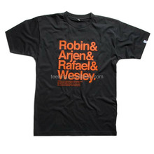 2015 fashionable men black printed T-shirt for summer