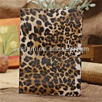 OEM 2013 Leopard Grain Pattern Smart cover cases Leather Holsters for Ipad 5 for tablet computer