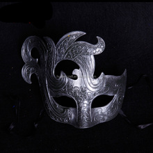 Import China Silver Flame Halloween masks