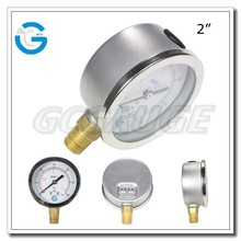High quality stainless steel brass internal pressure gauge bourdon