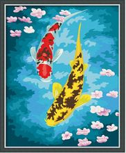 Wholesale fish paintings canvas oil painting for bedroom
