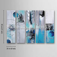 100% Hand-painted Modern abstract hotel decoration Paintings on canvas kitchen decoration - 5 panel wall art