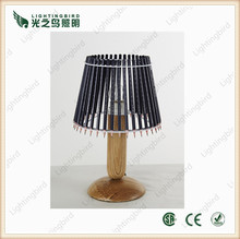 2015 simple new creative design writing reading wooden table lamp for master