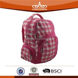 2015 low cost grid girls school bag wholesale