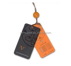 leather hang tag, print folded hang tag