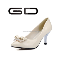 Most elegant women stylish pearlized high heel rubber shoes